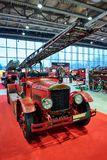 MOSCOW - MAR 09, 2018: Dennis 1929 fire truck at exhibition Ol stock photography