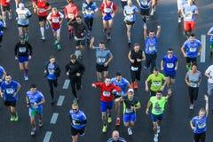 Moscow marathon Stock Photo