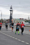 Moscow Marathon runners Royalty Free Stock Image