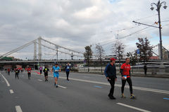 Moscow Marathon Stock Photo