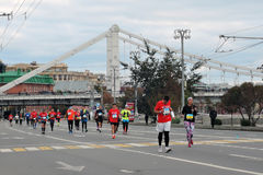 Moscow Marathon Stock Images
