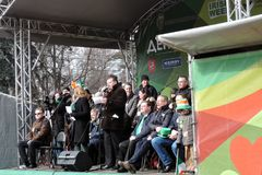 Saint Patrick`s Day celebration in Moscow. Royalty Free Stock Photo
