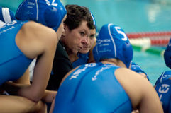 Trainer of Widex Donk team Ingrid Veenhuis stock photo