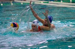 Heavy water polo game Royalty Free Stock Photo