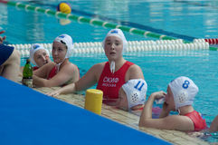 Waterpolo. Skif team. Royalty Free Stock Photos