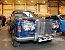 MOSCOW - MARS 9: Den Retro bilen Rolls Royce försilvrar molnet mig Radford E Royaltyfri Bild