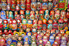Moscow, Matryoshka at Russian market Royalty Free Stock Image