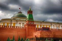 moscow Mausoleet för röd fyrkant Mamman av Vladimir Lenin Kryptan i Ryssland Arkivbilder