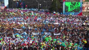 Moscow. May Day demonstration stock video