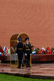 MOSCOW MAY 14:  Sentry on guard in Kremlin on 14 May 2015 in Moscow Stock Photo