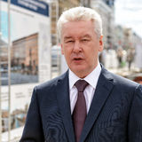 Moscow Mayor S. Sobyanin visits the Triumph Square Stock Photography