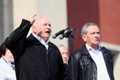 Moscow Mayor Yuri Luzhkov stock photos