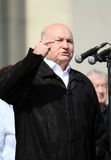Moscow Mayor Yuri Luzhkov stock image