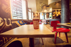 Moscow McCafe interior Royalty Free Stock Image