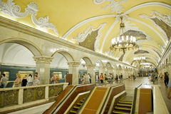 Moscow metro Stock Photos