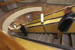 Moscow metro escalator Royalty Free Stock Image
