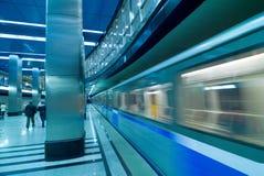 Moscow metro passengers Stock Photo