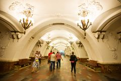 Moscow Metro. The Moscow Metro is a rapid transit system serving Moscow.The Communist Party had the power to mobilize; because the party was a single source of Royalty Free Stock Photo