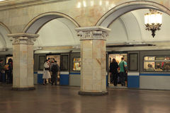 Moscow metro. Russia Royalty Free Stock Photos