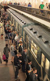 Moscow metro. Russia. Moscow metro station Komsomolskaya on Ring line. Russia royalty free stock photography