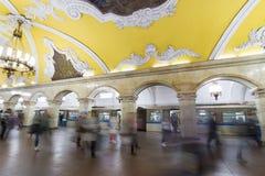 MOSCOW   metro station Komsomolskaya, Russia. Royalty Free Stock Photos