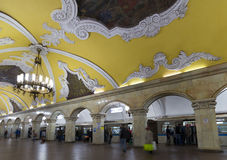 MOSCOW   metro station Komsomolskaya, Russia. Stock Image
