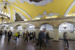 MOSCOW   metro station Komsomolskaya, Russia. Stock Photos