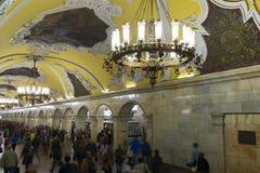 MOSCOW   metro station Komsomolskaya, Russia. Royalty Free Stock Image