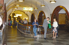 Moscow metro station. Plaza of the Revolution Underground Traffic Stock Photography