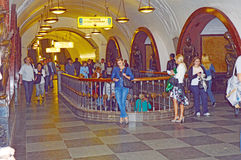 Moscow metro station. Revolution Square Traffic Stock Photography