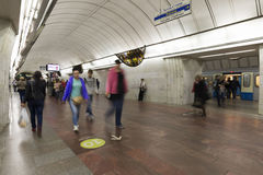 MOSCOW  metro station Tsvetnoy Bulvar, Russia. Royalty Free Stock Images
