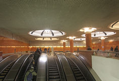 Moscow metro station Royalty Free Stock Photography