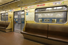 Moscow metro train Stock Images