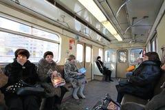 Moscow metro train stock image