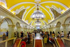 Moscow metro Stock Photography