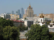 Moscow: a mix of epochs and styles, city view Stock Images