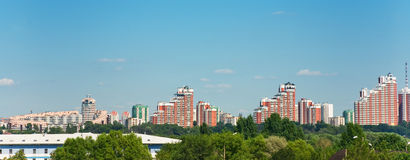 Moscow modern buildings royalty free stock photo