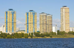Moscow, modern buildings Royalty Free Stock Photo