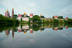 Moscow monastery at sunrise. Stock Images