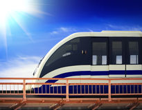 Moscow monorail Stock Photo