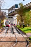 Moscow monorail Royalty Free Stock Photo