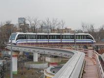 Moscow monorail Fotografering för Bildbyråer