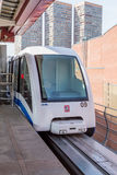 Moscow monorail fast train on railway Stock Photography