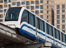 The Moscow monorail railway. The Moscow city public transport Stock Photography