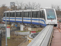 Moscow Monorail. MOSCOW, RUSSIA - APRIL 20, 2013: The Moscow Monorail system running from Timiryazevskaya metro station to Sergeya Eisensteina street has 6 Stock Images