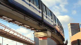 Moscow monorail. Moscow, Russian Federation - October 27, 2012: Moscow modern speed monorail stock footage