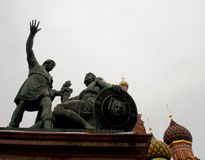 Moscow. Monument in front of the Church of St. Basil in Red Square in Moscow Royalty Free Stock Photo