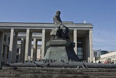 Moscow, monument to Dostoevskiy Stock Photo