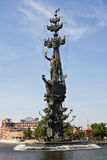 Moscow, monument to king Peter the Great Stock Images