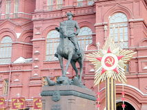 Moscow Monument to Marshal Zhukov 2011 Stock Image